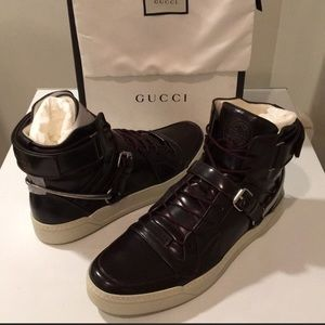 🇮🇹New Gucci Spur Tennis High-Top Sneaker Sz 14.5